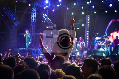 Naklejka Sylwetki tłum koncert