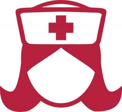 Symbol Krankenschwester Piktogramm Kopf