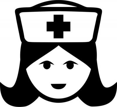 Naklejka Symbol Krankenschwester Piktogramm Kopf