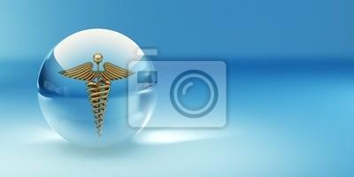 Naklejka Symbol medycyny. Abstract background