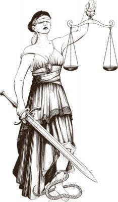 Naklejka Symbol sprawiedliwości Femida