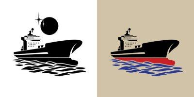 Naklejka Symbol statek transportowy