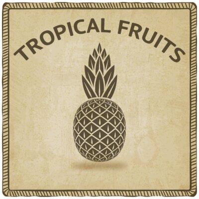 Naklejka Symbol tropikalnych owoców ananasa