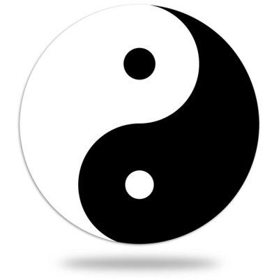 Naklejka Symbol Yin i Yang