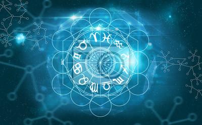 Naklejka symbole horoskop astrologii