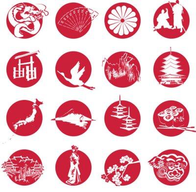 Naklejka Symbole Japonii
