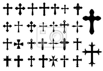 Naklejka Symbole religii krzyż ustawiony