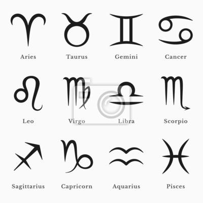Naklejka Symbole zodiaku
