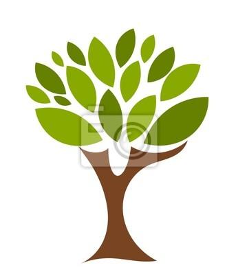 Naklejka Symboliczne drzewa
