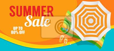 Naklejka Szablon baneru sprzedaży lato dla Twojej firmy. Vector illustrati