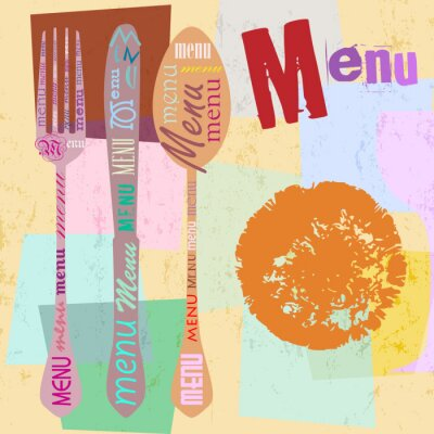 Naklejka szablon karty menu dla restauracji, projekt wolnego miejsca kopiowania, z