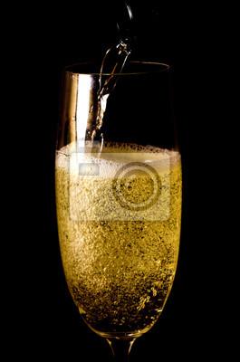 Naklejka szampan