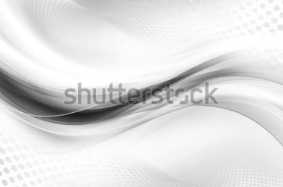 Naklejka Szary biały jasny fale projekt streszczenie tapeta tło rastra półtonów
