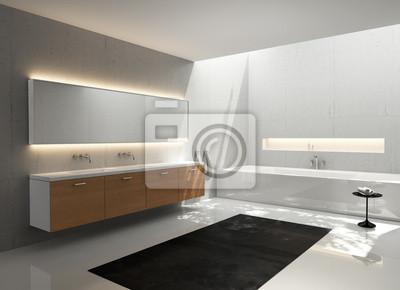 Szary Biały Umywalka Z Drewna Nowoczesny Elegancki Luksus łazienka Naklejki Redro