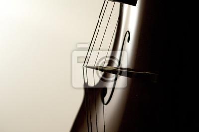 Naklejka Szczeliny wiolonczeli Close-up