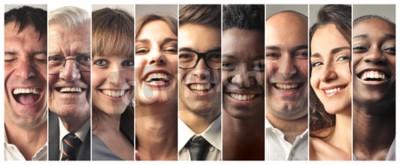 Naklejka Szczęśliwi ludzie się śmieją