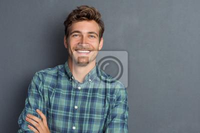 Naklejka Szczęśliwy mężczyzna śmieje