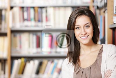 Naklejka Szczęśliwy w Bibliotece