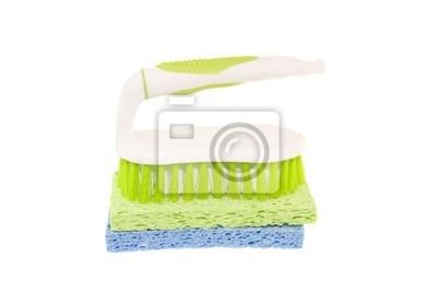 Naklejka szczoteczka do czyszczenia zarośla na gąbki