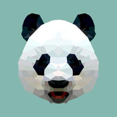 Naklejka Szef panda wielokąta wyizolowanych wektorowe