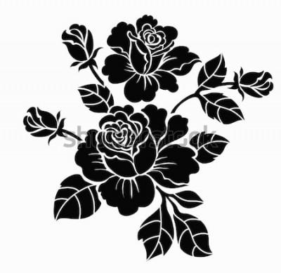 Naklejka Szkic motyw kwiatowy dla projektu