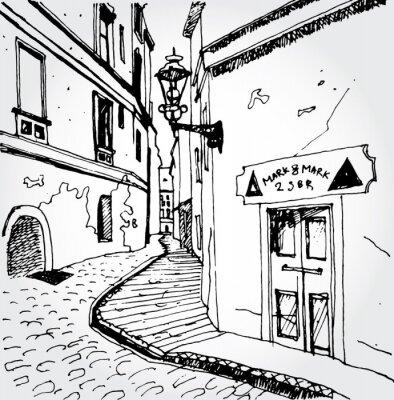 Naklejka Szkic Old Street