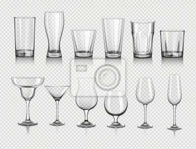 Naklejka szklanki do napojów