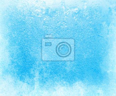 Naklejka Szkło pokryte lodem w okresie silnych mrozów w zimie