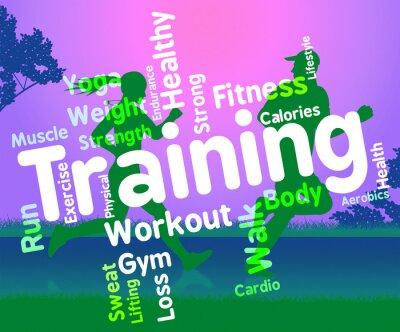 Naklejka Szkolenie Words Reprezentuje Get Fit i ćwiczenia