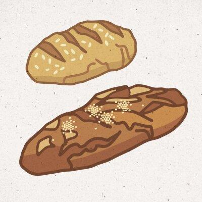 Naklejka sztuk zdrowego chleba