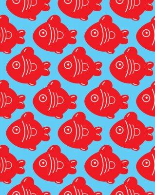 Naklejka szwu ryb
