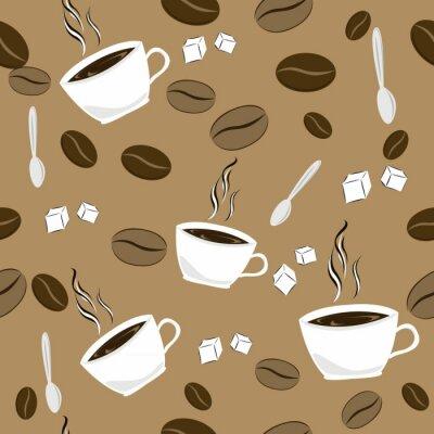 Naklejka szwu z kawą