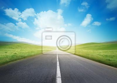 Naklejka Szybka Droga przez wieś