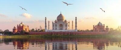 Naklejka Taj Mahal sunrise panorama, Agra, Uttar Pradesh, India