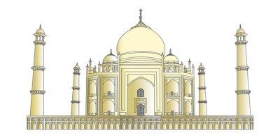 Naklejka Taj Mahal w bardzo dużej szczegółowości