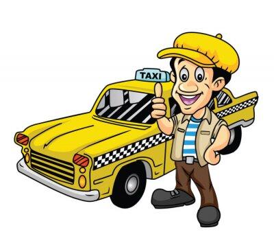 Naklejka Taksówkarz