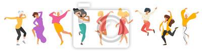 Naklejka Tańcząca sylwetka ludzi