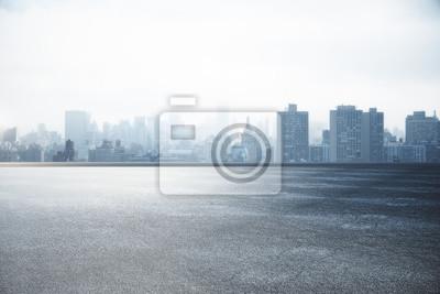 Naklejka Tapeta panoramę miasta