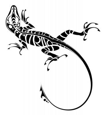 naklejka tatua jaszczurka na wymiar czarny sztuka stopa. Black Bedroom Furniture Sets. Home Design Ideas