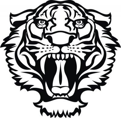 Naklejka Tatuaż tygrys