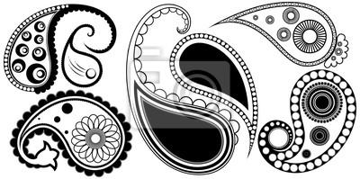 Tatuaże Artystyczne Wzory Paisley Henna Naklejki Redro
