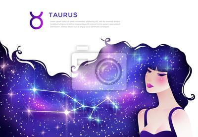 Naklejka Taurus zodiac sign