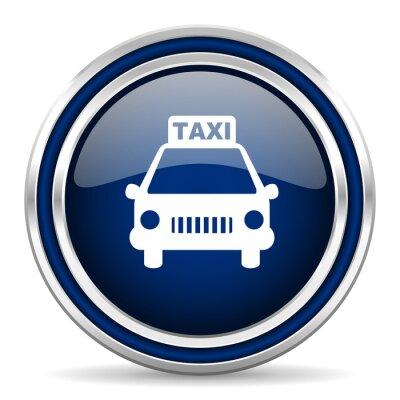 Naklejka taxi blue glossy web icon
