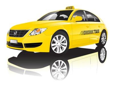 Naklejka Taxi Cab samochodów Publiczne Shiny Wydajność Concept