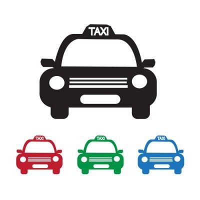 Naklejka Taxi samochodów Ikona