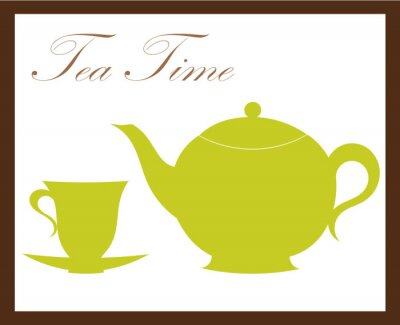 Naklejka Tea time