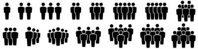 Naklejka Team icons set. People .Group of people icons. Vector illustration