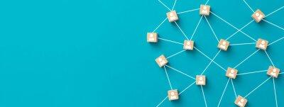 Naklejka Teamwork, network and community concept.