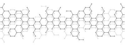 Naklejka Technical honeycomb background