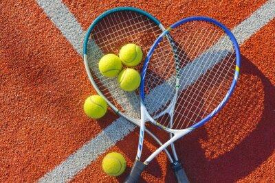 Naklejka Tenis, piłka tenisowa, tło.